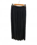 AP STUDIO()の古着「サテンギャザースカート」|ブラック