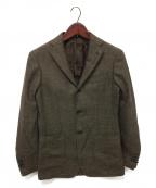 RING JACKET(リングジャケット)の古着「ウールシルクリネンテーラードジャケット」 ブラウン