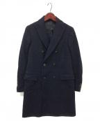 LARDINI(ラルディーニ)の古着「グレンプレイドダブルブレストコート」 ネイビー×ブラック