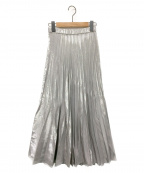 UN3D.(アンスリード)の古着「オリガミプリーツラメスカート」 シルバー