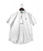 ()の古着「スポーツストライプゼブラワンポイントシャツ」 ホワイト