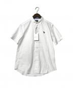 PS Paul Smith(PSポールスミス)の古着「スポーツストライプゼブラワンポイントシャツ」|ホワイト