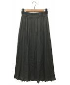 ()の古着「ピュアビスコースギャザースカート」|グレー