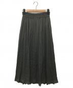 ebure(エブール)の古着「ピュアビスコースギャザースカート」 グレー