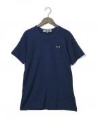 PLAY COMME des GARCONS(プレイ コムデギャルソン)の古着「ハートロゴワッペンTシャツ」|ネイビー