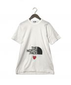 PLAY COMME des GARCONS(プレイ コムデギャルソン)の古着「ハートロゴワッペンTシャツ」|ホワイト
