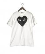 PLAY COMME des GARCONS(プレイ コムデギャルソン)の古着「プレイハートロゴTシャツ」|ホワイト