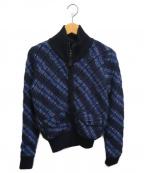 RED VALENTINO(レッドヴァレンティノ)の古着「ニットジャケット」 ネイビー