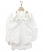 T by ALEXANDER WANG(ティーバイアレキサンダーワン)の古着「オフショルダーシャツ」|ホワイト