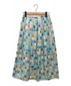 ()の古着「mapcheckプリントスカート」