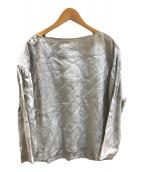 ()の古着「リネンプルオーバーブラウス」|パールグレー