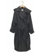 ()の古着「フード付きecoトレンチコート」|ブラック