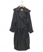 emmi atelier()の古着「フード付きecoトレンチコート」 ブラック