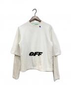 OFFWHITE()の古着「Double Layer Sweatshirt」|ホワイト