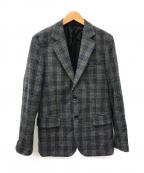 UMIT BENAN(ウミットベナン)の古着「チェックツイードウールテーラードジャケット」|グレー