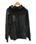 THE VIRIDI-ANNE(ヴィリジアン)の古着「ラミーフードブルゾン」 ブラック
