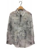 ()の古着「ライムストーンシアーシャツ」 グレー