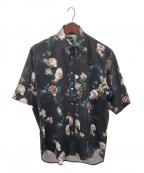 JOHN LAWRENCE SULLIVAN(ジョンローレンスサリバン)の古着「総柄Flower半袖シャツ」|ブラック