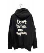 ()の古着「DON'T BOTHER ANYMORE HOODY」 ブラック