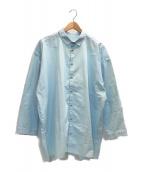 ()の古着「DRAUGHTSMAN SHIRT CALICO」|ライトブルー