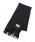 HERMES(エルメス)の古着「カシミヤマフラー」 ブラック