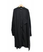 ()の古着「ロングシャツ」 ブラック