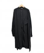 s'yte(サイト)の古着「ロングシャツ」 ブラック