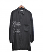 YohjiYamamoto pour homme(ヨウジヤマモトプールオム)の古着「Lyric Print Blouse」|ブラック