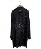BLACK Scandal Yohji Yamamoto(ブラックスキャンダルヨウジヤマモト)の古着「ヌードプリントシャツ」 ブラック