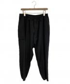 REGULAITION YOHJI YAMAMOTO(レギュレーション ヨウジヤマモト)の古着「裾リブウールギャバパンツ」|ブラック