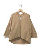 ()の古着「Grid on Grid V-neck sweater」|キャメル