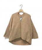 ISSEY MIYAKE(イッセイミヤケ)の古着「Grid on Grid V-neck sweater」|キャメル