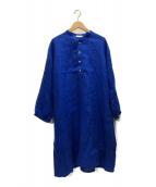 ()の古着「リネンプルオーバーシャツワンピース」|ブルー