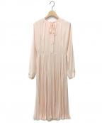 CELFORD(セルフォード)の古着「プリーツワンピース」|ピンク