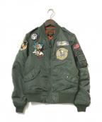 AVIREX(アヴィレックス)の古着「L-2Bジャケット」 カーキ