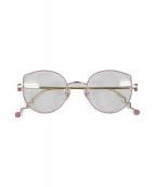 ()の古着「NORAH / 眼鏡」 ピンク