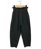 ()の古着「マイクロタフタウエストギャザーパンツ」 ブラック