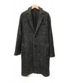 ()の古着「ツイードコクーンチェスターコート」|グレー