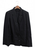 LEMAIRE(ルメール)の古着「DOUBLE BREASTED JACKET」 ブラック
