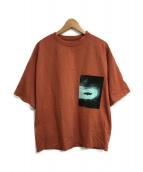 ()の古着「オーバーサイズグラフィックプリントTシャツ」|ブラウン