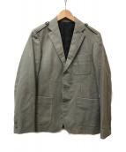 ()の古着「ヘリンボーンジャケット」 グレー