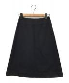 ()の古着「セミタイトスカート」|ブラック