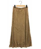()の古着「フィブリルキュプラスカート」 キャメル