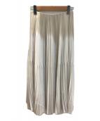 ()の古着「プリーツスカート」 アイボリー