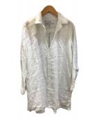 ()の古着「リネンロングシャツ」 ホワイト