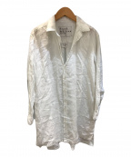 Frank&Eileen(フランクアンドアイリーン)の古着「リネンロングシャツ」 ホワイト