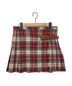()の古着「タータンチェックラップスカート」