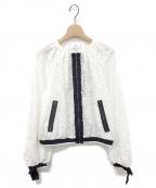 LANVIN en Bleu()の古着「レースZIPアップジャケット」 ホワイト