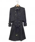 BALMAIN(バルマン)の古着「トレンチコート」|ブラック