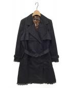 ()の古着「トレンチコート」 ブラック